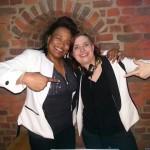 Kat Moore and DJane Sandra Moore